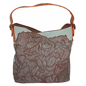 Dylan & Dillion Peony Suede Hobo