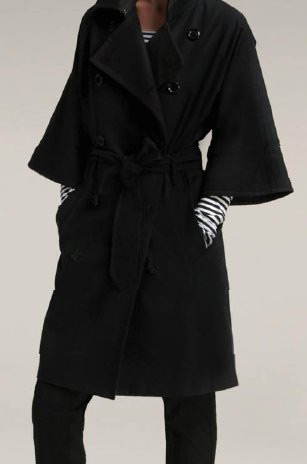 Club Monaco 3/4 Wide Sleeve Double Breasted Trench