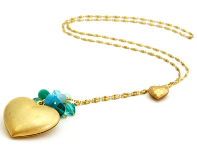 Moonrox Long Puffy Heart Necklace