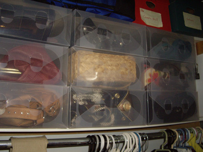 Clear Shoe Boxes - handbag collection