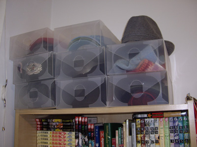 Clear Shoe Boxes - hat collection