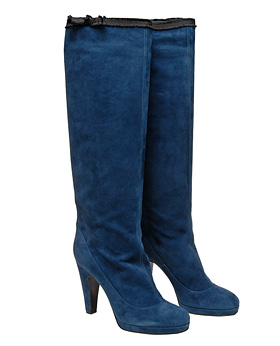 Marc by Marc Jacobs Long suede boot with bow