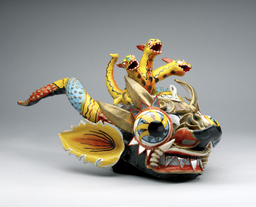 Shreyas and Mina Ajmera Gallery of Africa, the Americas and Asia-Pacific - Diablada dance mask from Bolivia