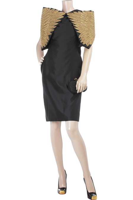 Alexander McQueen Wing embroidered dress