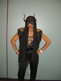 Me as Grace Jones from the Q Awards 2008