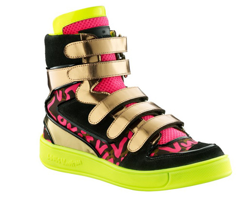 Louis Vuitton and Stephen Sprouse hightop sneakers