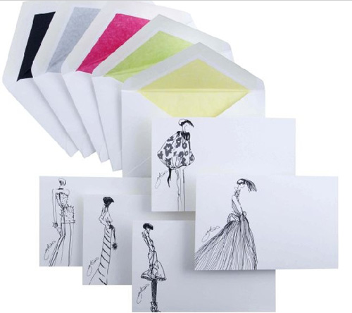 Giles Deacon Illustrated Limited Edition Correspondence Cards by Smythson
