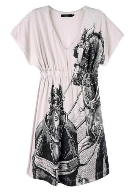 Horse Print Jersey Dress by Thomas Burberry