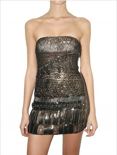 Jeweled Bustier Dress by Alessandro Dell' Acqua