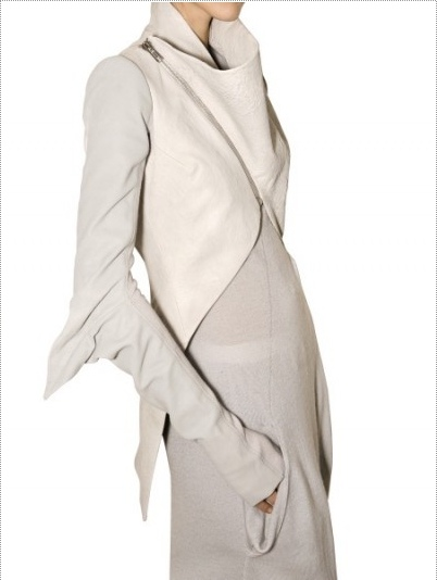 Rick Owens Elbow Wing Cropped Front Leather Jacket Fall 2009