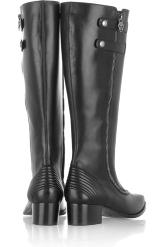 Leather riding boots by Alexander McQueen