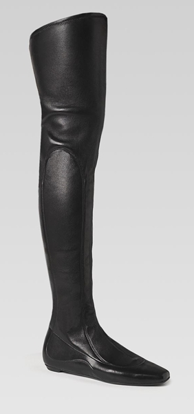 division' high heel over-the-knee flat boots by Gucci
