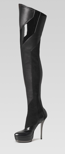 division' high heel over-the-knee platform boots by Gucci