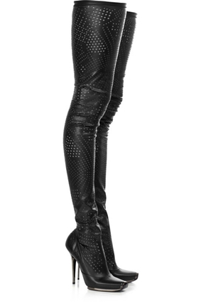 Stella McCartney Perforated Thigh High Boot