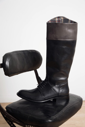 Riding Boots with Brown Cuff by Philip Sparks