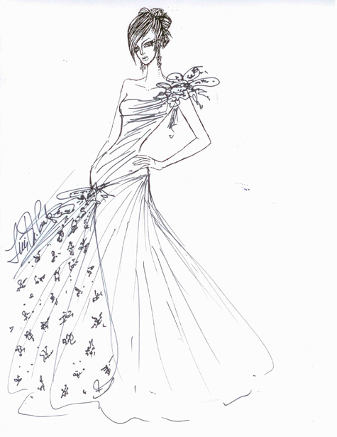 Dare to Wear Love Ines Di Santo sketch