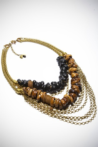 Necklace By Jenny Bird in Collaboration With Alexandra Weston Vintage brass Coconut shell