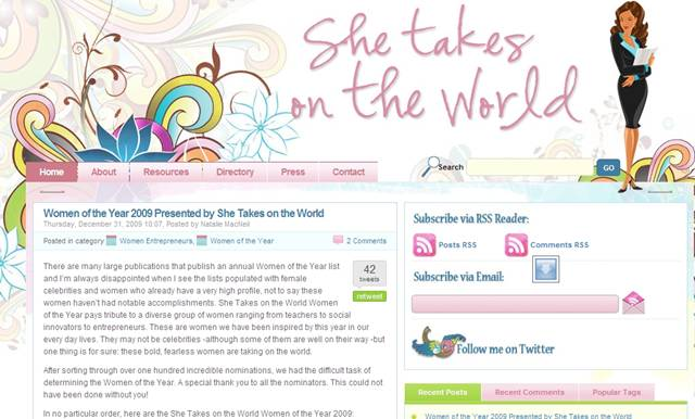 She Takes on the World Women of the Year 2009