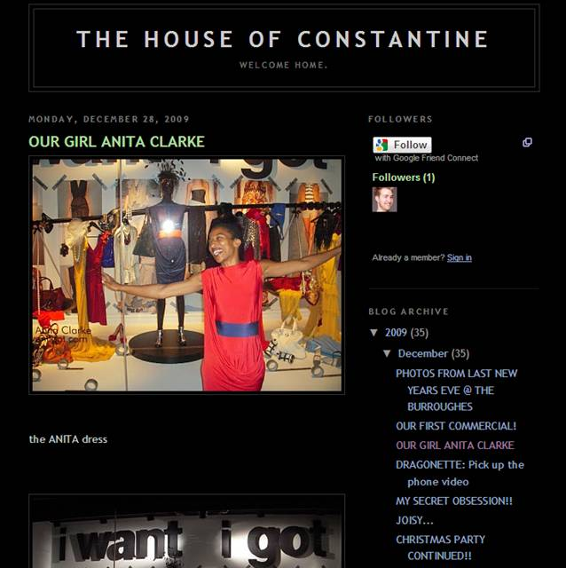 The House of Constantine: Our Girl Anita Clarke