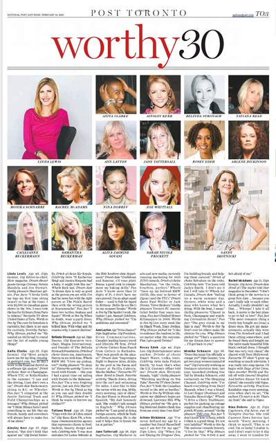 The National Post's Worthy 30