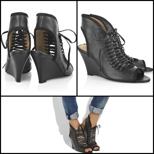 Pose lace-up ankle boots by Acne