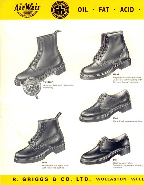 Doc Martens turns 50 - Early AirWair Catalogue