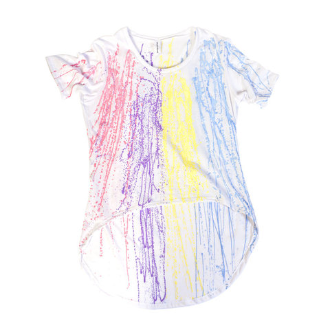 An Ashley Rowe Limited Edition Splatter Paint T-shirt