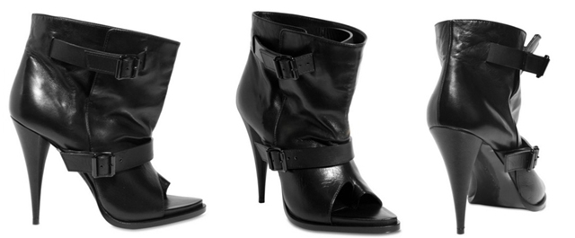 Givenchy Nappa Leather Open Toe Boots
