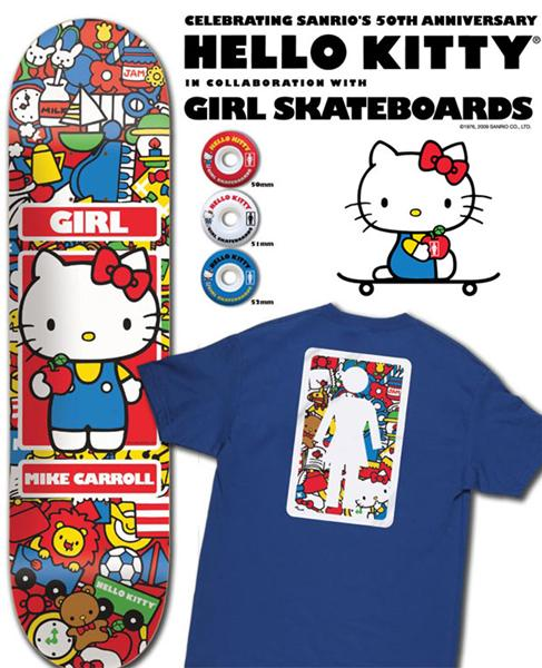 50th anniversary goodness from Girl Skateboards. It's a Hello Kitty