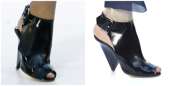 Patent Leather Booties by Chloé
