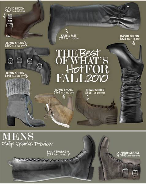 David Dixon and Philip Sparks for Town Shoes Fall Winter 2010 Preview