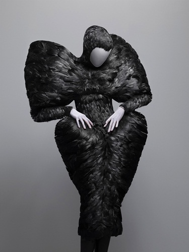 Alexander McQueen Dress The Horn of Plenty, autumn/winter 2009–10 Black duck feathers