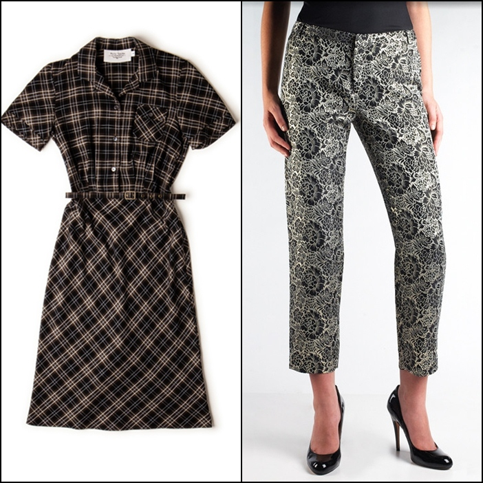 Philip Sparks Shirt Dress, Moon Apparel Brocade Cigarette Pant