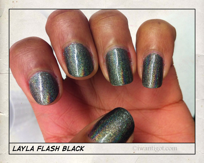 08 Flash Black by Layla Nail Polish