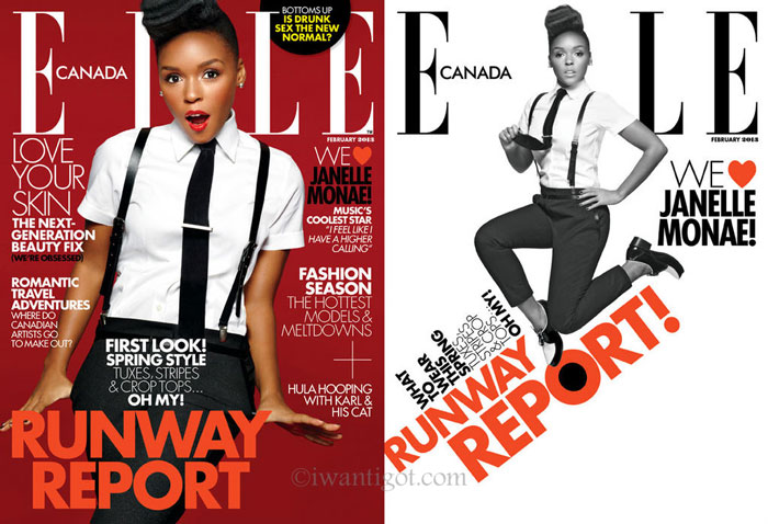 Janelle Monáe on the Cover of Elle Canada
