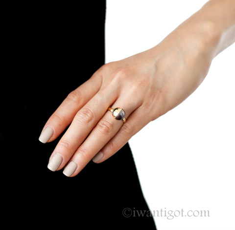 Melanie Georgacopoulos Half Gold Covered Rings