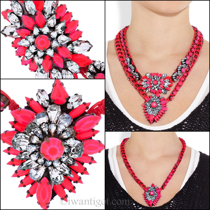 Silver-plated Swarovski Crystal Necklaces by Shourouk