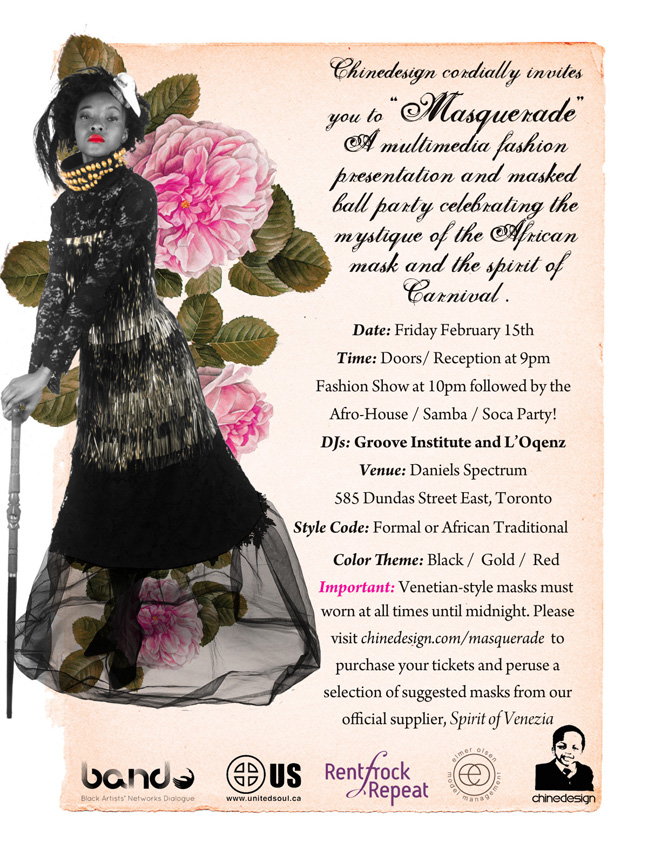 Chinedesign presents Masquerade - February 15, 2013