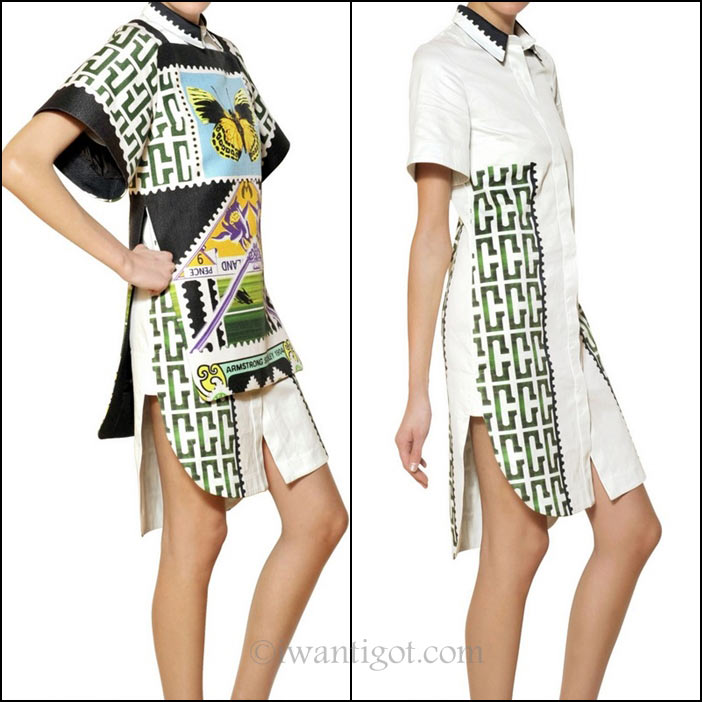 Mary Katrantzou Printed Cotton Viscose Raffia Dress