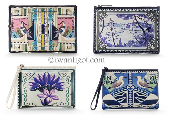 Mary Katrantzou Printed Leather Pouch