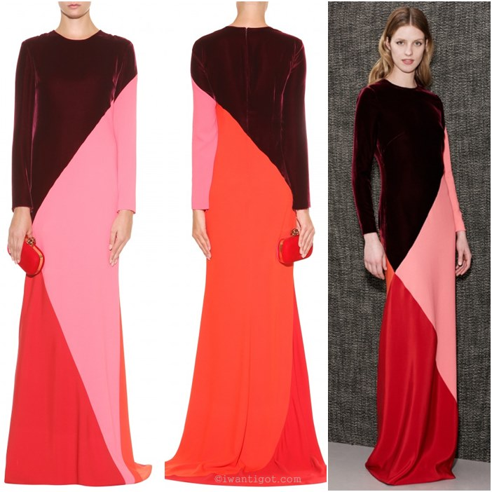Colour Block Crepe Gown by Stella McCartney