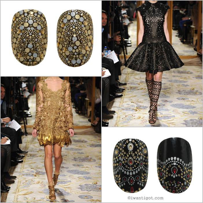 Revlon by Marchesa Nail Art 3D Jewel Appliqués - Guilded Mosaic, JeweledNoir
