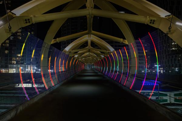 Scotiabank  Nuit Blanche - lightbridge