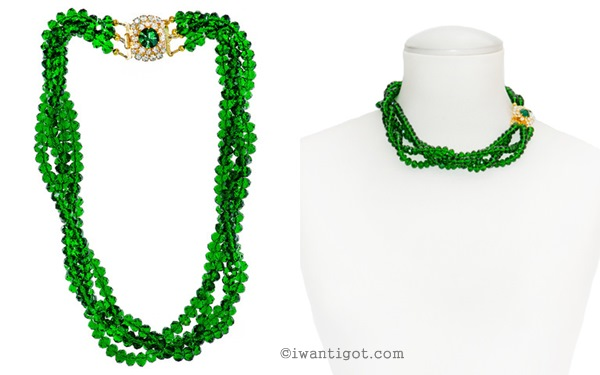 I want - I got's Holiday Gift Guide - Shay Lowe Jewellry Glorious Emerald Statement Necklace