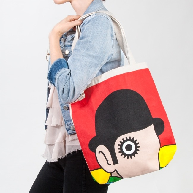 i want: A Clockwork Orange Canvas Book Bag by Out of Print Clothing