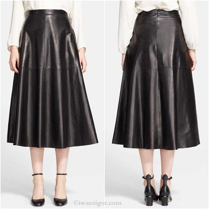 Long Leather Skirt by Valentino