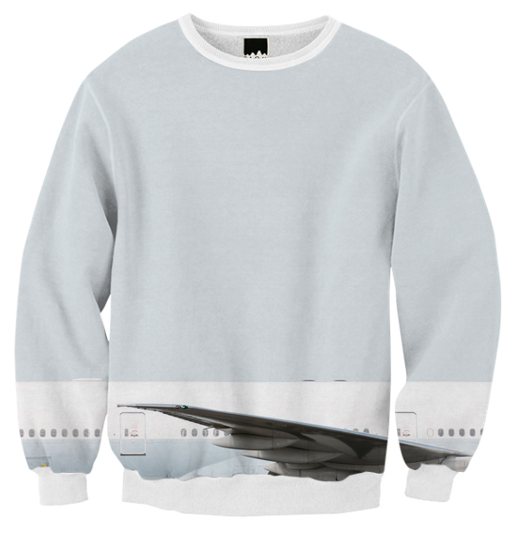 Very Plane Clothes 777 Wing Sweatshirt