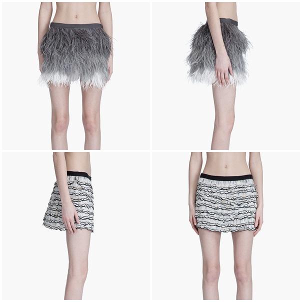 Haute Hippie feathered skirts