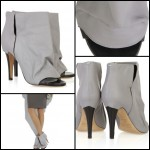 Peep-toe leather boots by Maison Martin Margiela