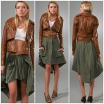 An Alexander Wang Leather Jacket with Removable Canvas Skirt